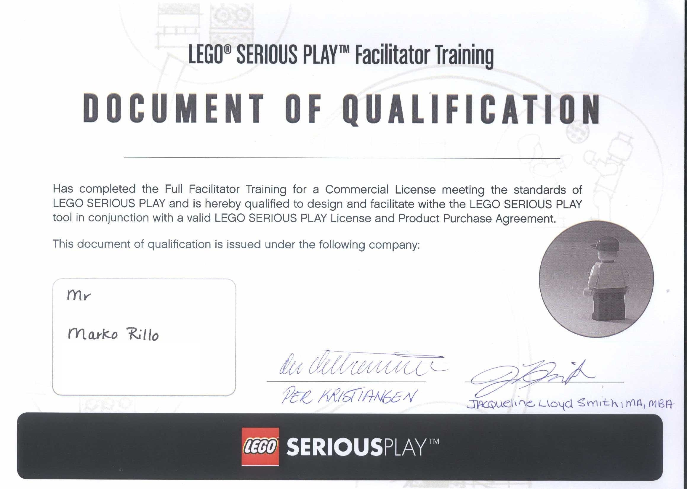 LEGO® SERIOUS PLAY® Facilitator – Marko Rillo