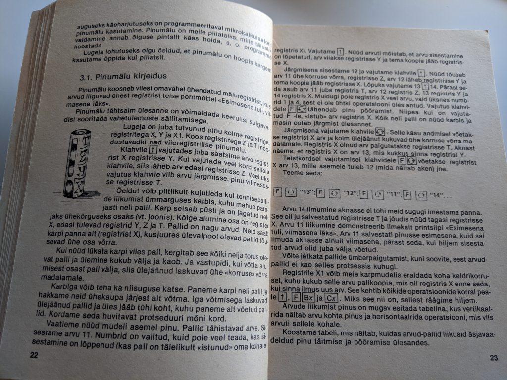 Gennadi Slavin 1988 Programmeerimie Programmeeritaval Mikrokalkulaatoril Elektroonika B3-34 lk 22