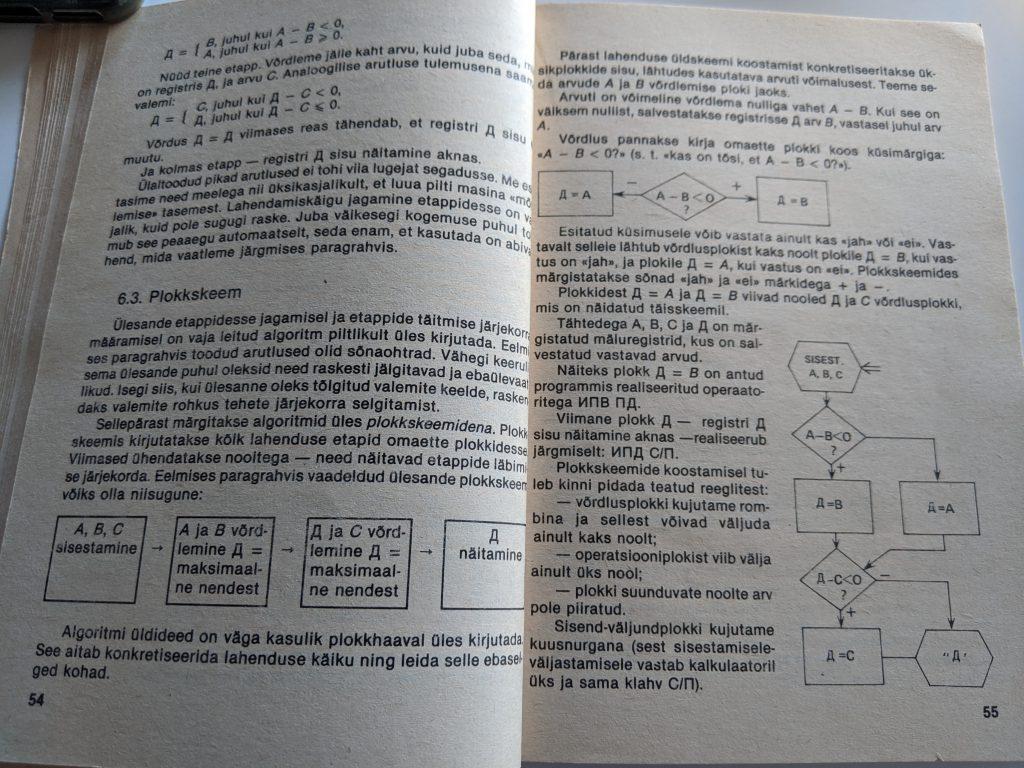 Gennadi Slavin 1988 Programmeerimie Programmeeritaval Mikrokalkulaatoril Elektroonika B3-34 lk 54